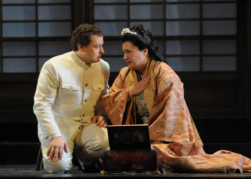 Patricia Racette as Cio-Cio-San and Stefano Secco as Pinkerton in 'Madama Butterfly' at Lyric Opera of Chicago