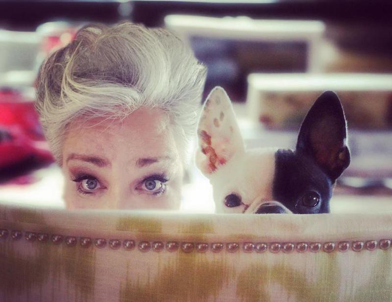 Stephanie Blythe and June, her Boston terrier.