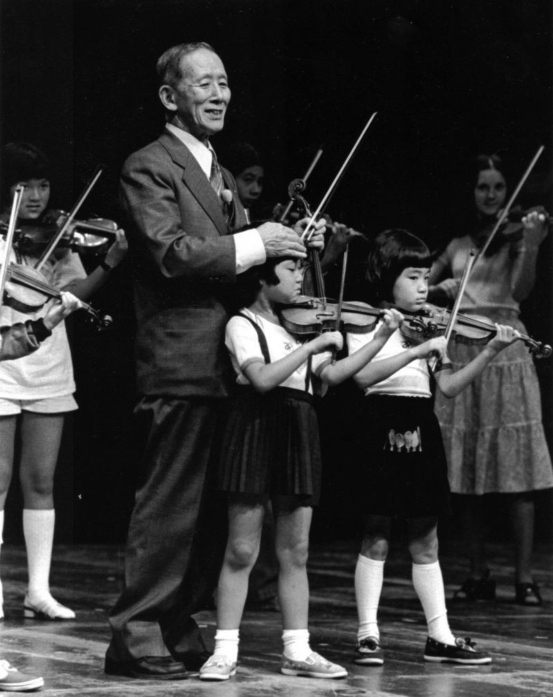 Shinichi Suzuki in 1971