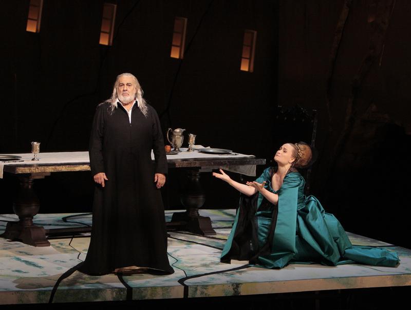 Placido Domingo and Marina Poplavskaya star in Verdi's 'The Two Foscari' at LA Opera.