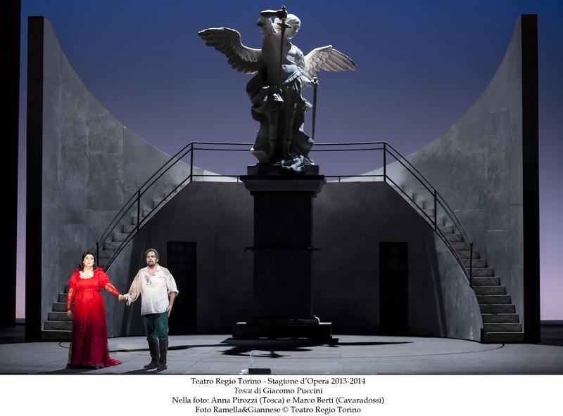 Anna Pirozzi as Tosca and Marco Berti as Cavaradossi