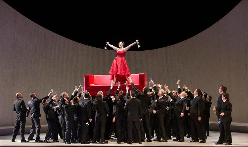 Sonya Yoncheva as Violetta in Verdi's La Traviata