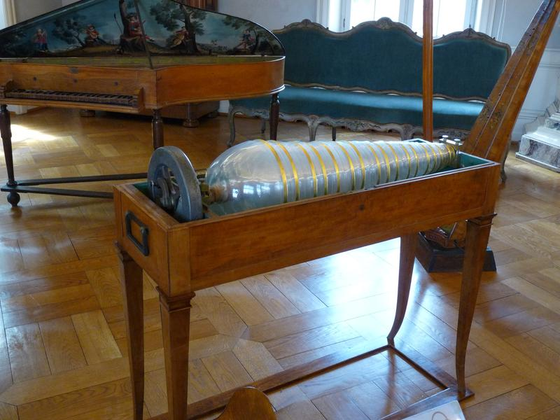 Glass harmonica on display at Musée Unterlinden in Colmar, France