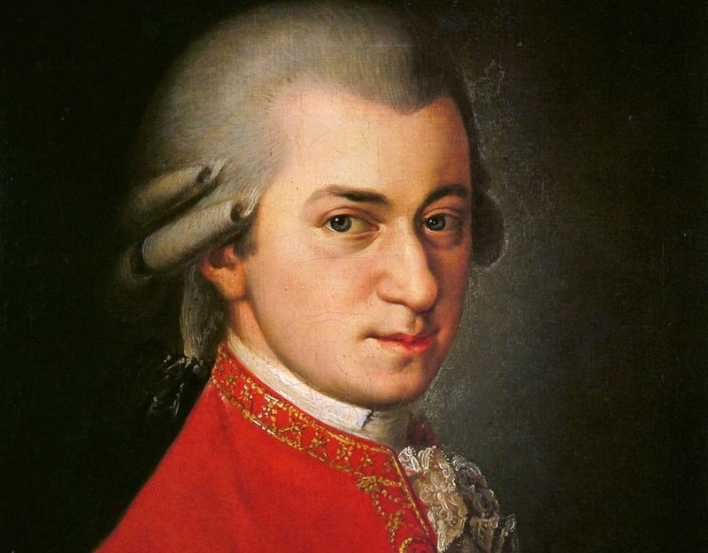 A posthumous painting of Mozart by Barbara Krafft in 1819.