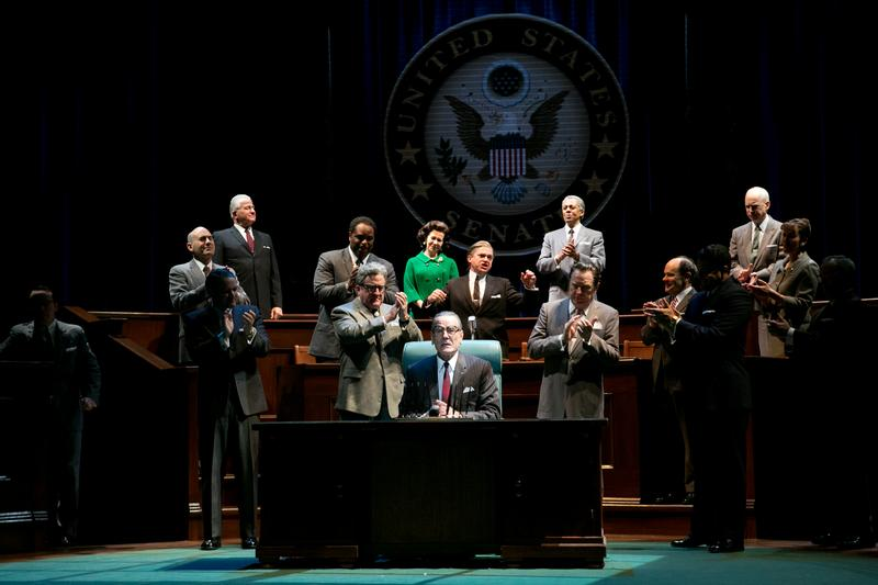 Bryan Cranston and cast in 'All the Way' at the the Neil Simon Theatre.