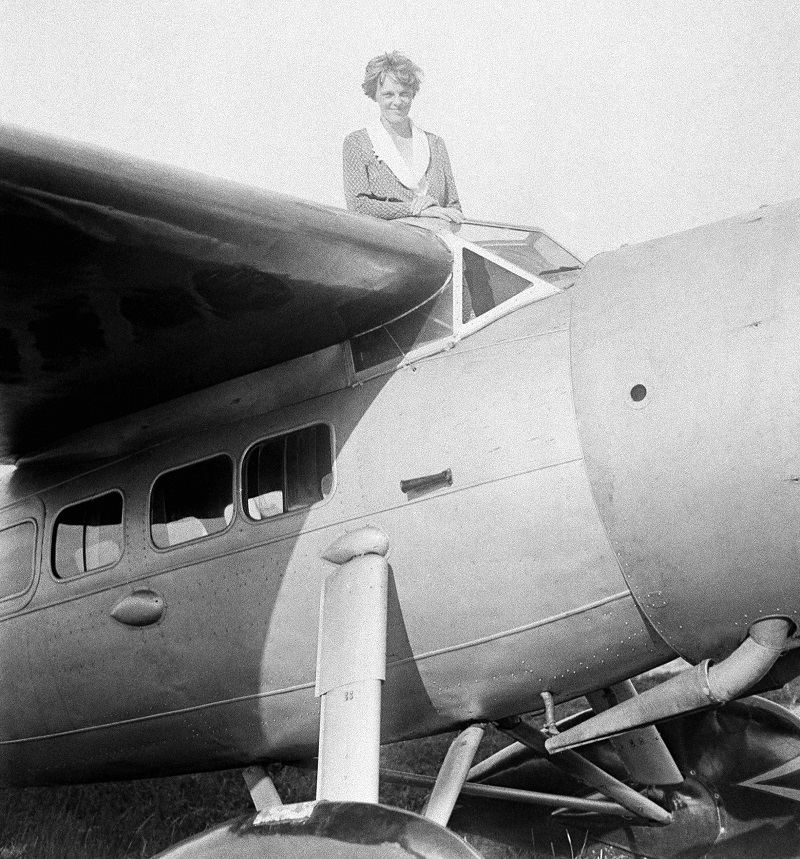 Image result for amelia earhart plane on first solo flight