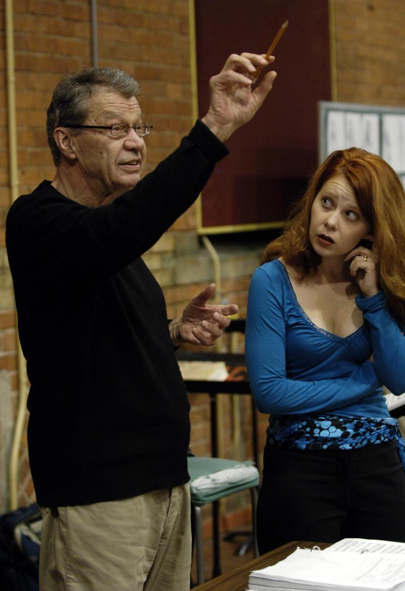Andrew Porter directs opera singer Nikki Einfeld during rehearsal of the Canadian Opera Company's 'Magic Flute' in 2005