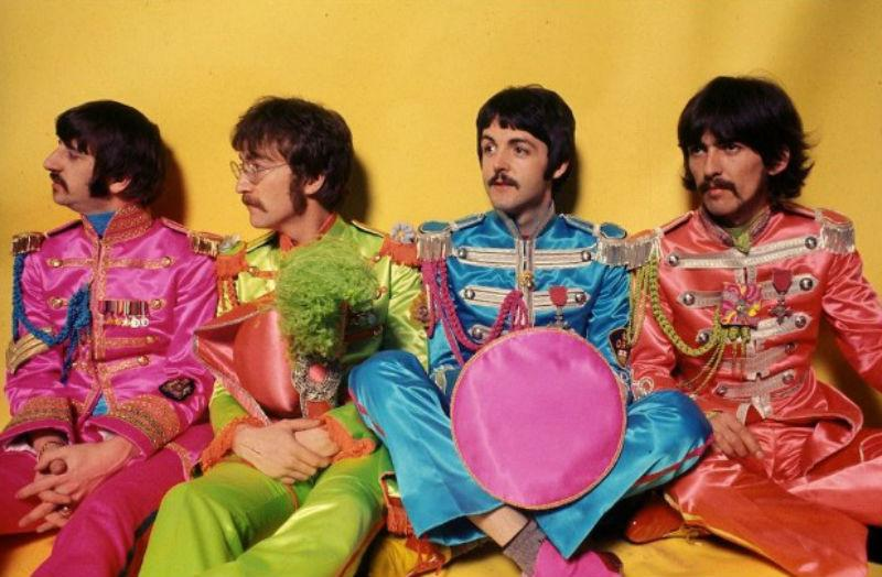 The Beatles' photoshoot for 'Sgt Pepper's Lonely Hearts Club Band.'