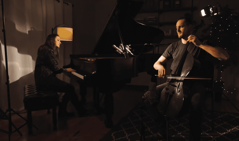 Brooklyn Duo performs a cover of Ed Sheeran's 'Castle on the Hill.'