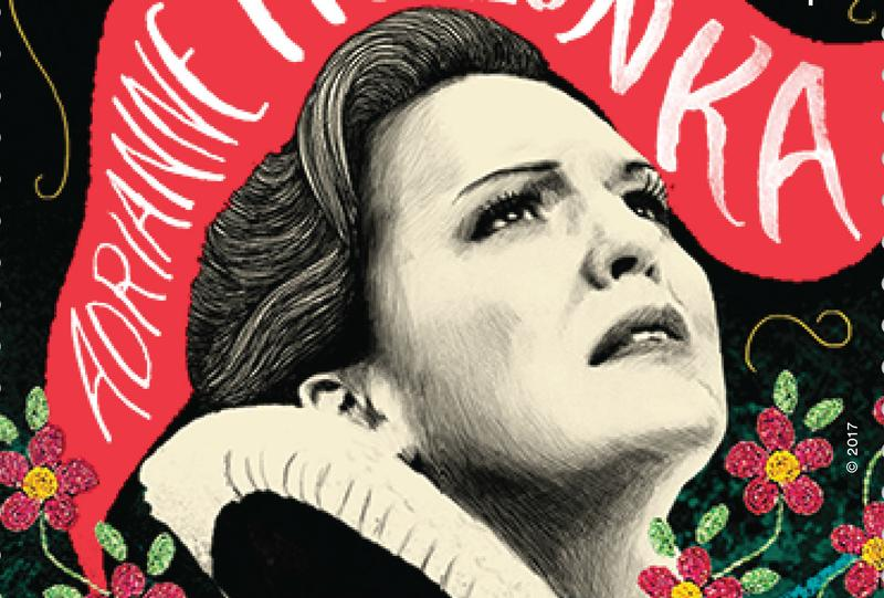 Canadian postal service will issue opera-related stamps including ones of star Canadian singers Adrianne Pieczonka and Gerald Finley.