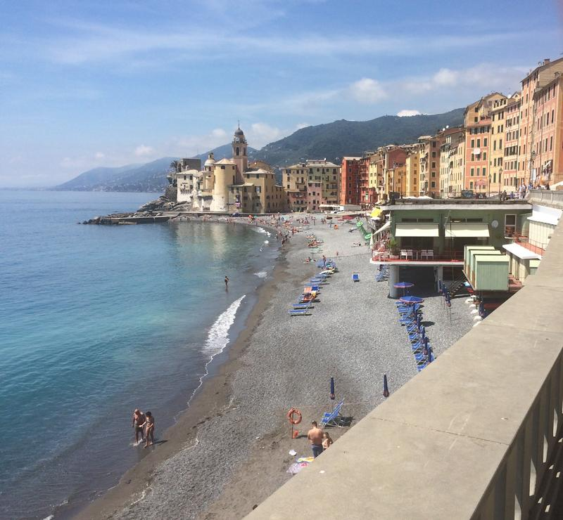 The fishing port town of Camogli.
