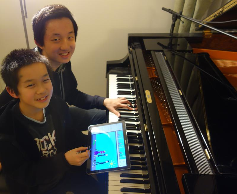 "11-year-old William Liu and 16-year-old Charlie Liu, the fraternal duo behind ""Fantasies."""