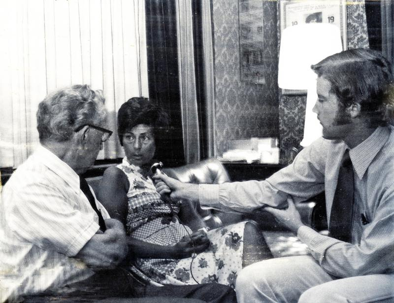 George O'Brien and Douglas P. Cooper interviewing  Roberta Peters.