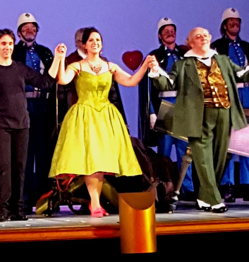 "Daniela Mack takes her curtain call in the Royal Opera House's ""Barber of Seville."""