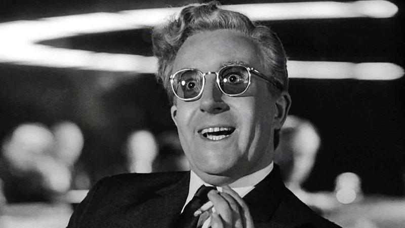 Peter Sellers in Dr. Strangelove, or: How I Learned to Stopped Worrying and Love the Bomb