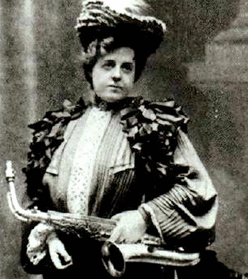 Elise Hall, amateur saxophonist.