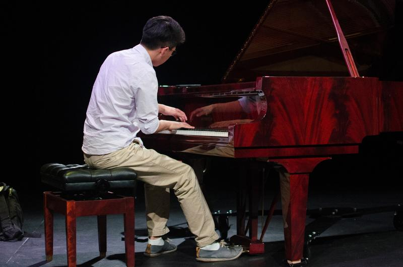 "17-year-old pianist Ryan Jung from Winston-Salem, North Carolina, rehearses ""Une barque sur l'océan"" from Maurice Ravel's Miroirs."