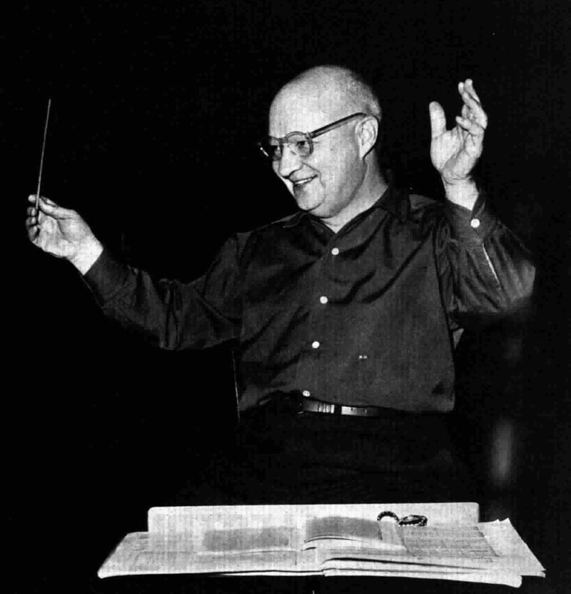 Paul Hindemith, rehearsal of a concert at the Auditorium of Turin, Italy