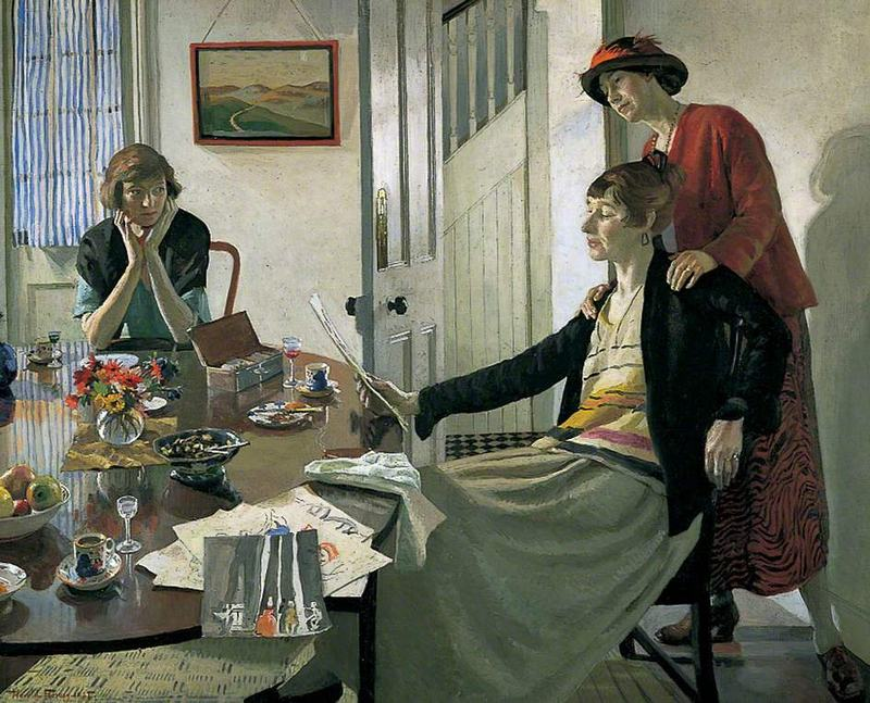 Harold Harvey's painting 'The Critics' from 1922.