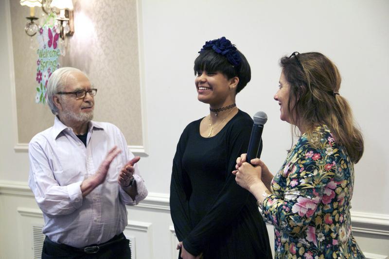 Joseph Feingold, Brianna Perez and filmmaker Kahane Cooperman at a screening of 'Joe's Violin.'