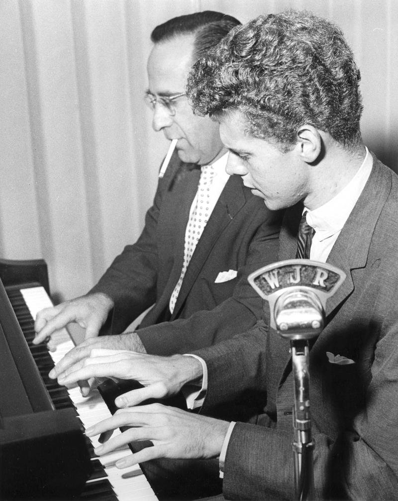 Karl Haas, host of Adventures in Good Music, with pianist Van Cliburn