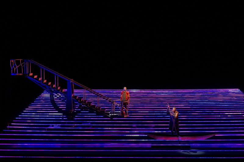A scene from Kaija Saariaho's L'Amour de Loin, photographed here at the Festival d'opéra de Québec.