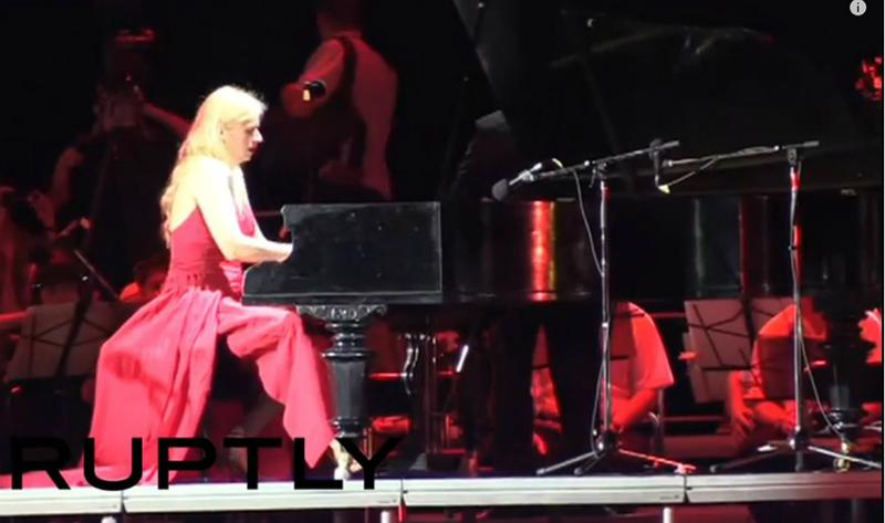 Valentina Lisitsa performs June 22 in Donetsk, the rebel-held city in eastern Ukraine