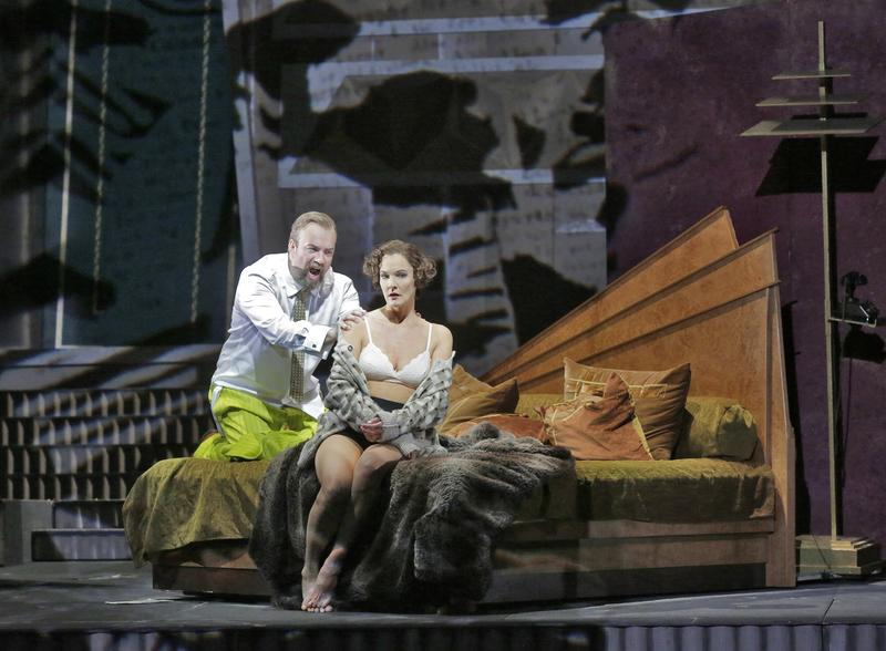 Marlis Petersen in the title role and Johan Reuter as Dr. Schön in Berg's Lulu.