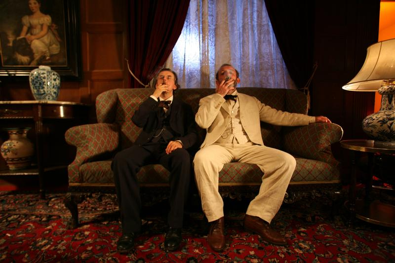 Johannes Silberschneider as Gustav Mahler and Karl Markovics as Sigmund Freud in the film 'Mahler on the Couch.'