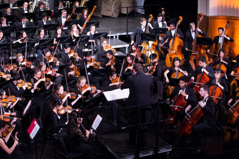 Brian Worsdale Conducting the Manhattan School of Music Precollege Symphony Orchestra