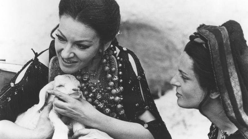 Maria Callas and Nadia Stancioff in Pier Paolo Pasolini's 'Medea' (1970).