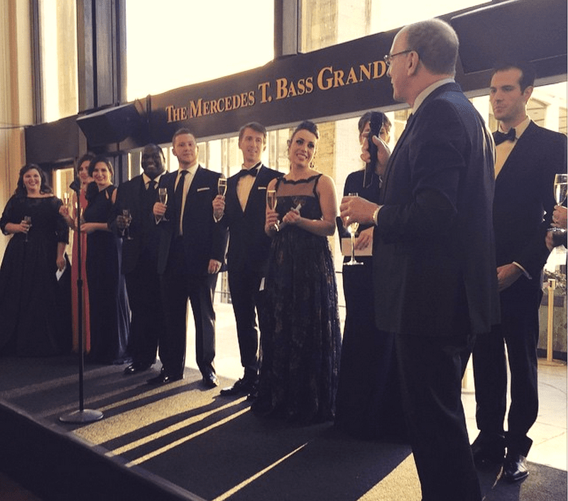 Winners of the National Council Auditions with Met Opera general manager Peter Gelb