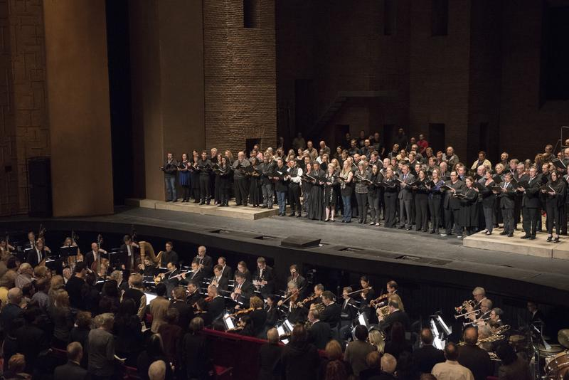 "The Metropolitan Opera sings the French national anthem, ""La Marseillaise,"" after the Paris attacks in 2015."
