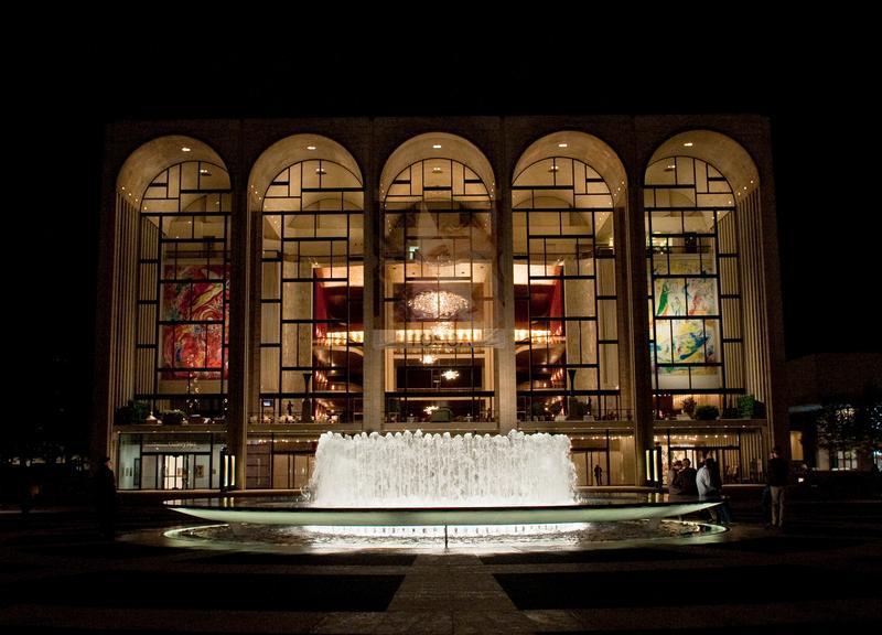 The Metropolitan Opera House at Lincoln Center Plaza.