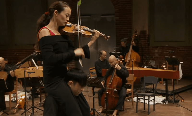 """Violinist Midori Seiler in one of the more unique """"Four Seasons"""" performances we've seen."""