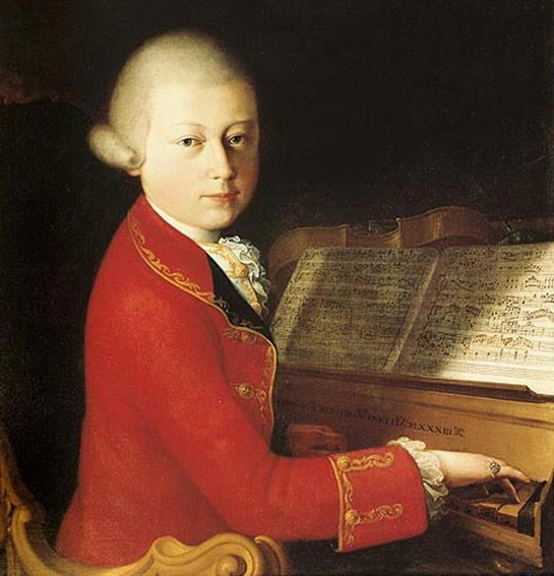 """Mozart in Verona,"" painted by Saverio Dalla Rosa in 1770."