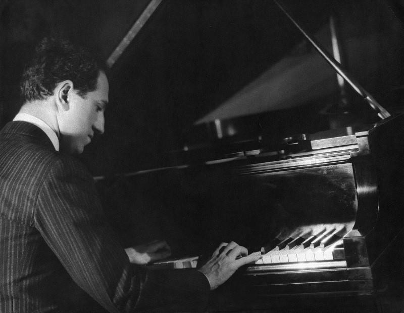 GEORGE GERSHWIN (1898-1937),  American composer. Photograph.