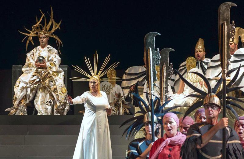 Marco Voleri (L) in the Puccini Festival production of 'Turandot'