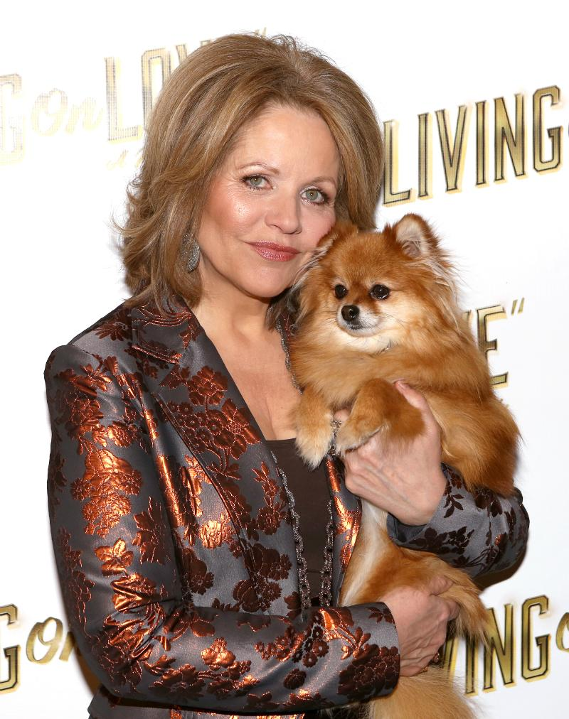 Renee Fleming and Trixie at a 'Living on Love' photo call at the Empire Hotel on March 12, 2015.