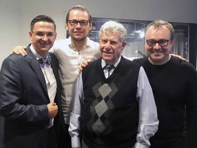 Violinist Cristian Fatu, cellist Mihai Marica, host Bob Sherman and pianist Matei Varga join us in the studio to play music by Romanian composers.