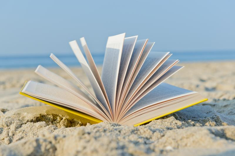 The beach is a great place to read.