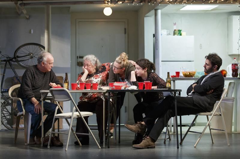 Reed Birney, Jayne Houdyshell, Cassie Beck, Sarah Steele and Arian Moayed in Roundabout Theatre Company's 'The Humans.'
