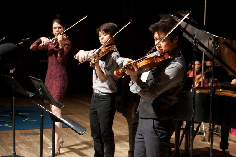 Tessa Lark, Jonathan Miron and Charles Yang.