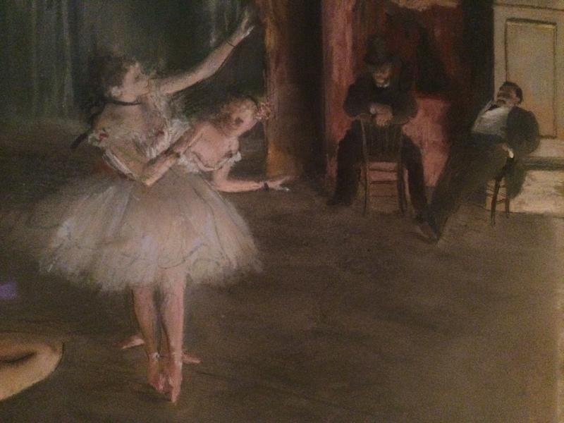 "Detail of ""The Rehearsal Onstage"" by Edgar Degas, ca. 1874"