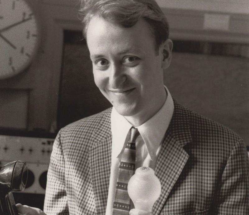 WNYC host Tim Page in the early 1980s.