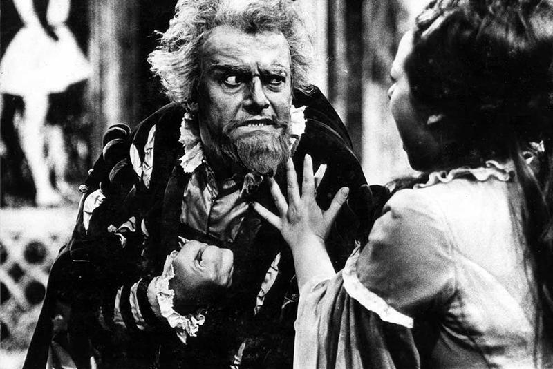 Tito Gobbi with Renata Scotto in 'Rigoletto'. Scotto was honored at the recent Metropolitan Opera Guild luncheon.