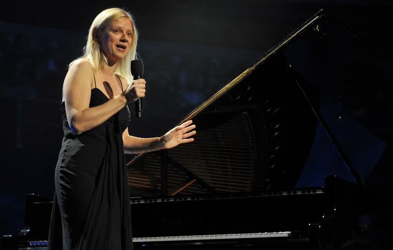 Valentina Lisitsa performs on stage at Royal Albert Hall on June 19, 2012
