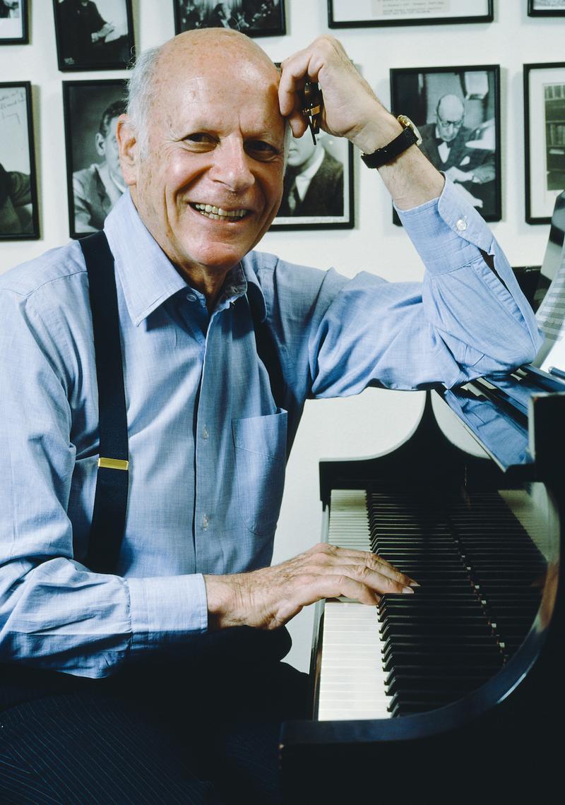Composer William Schuman in 1985