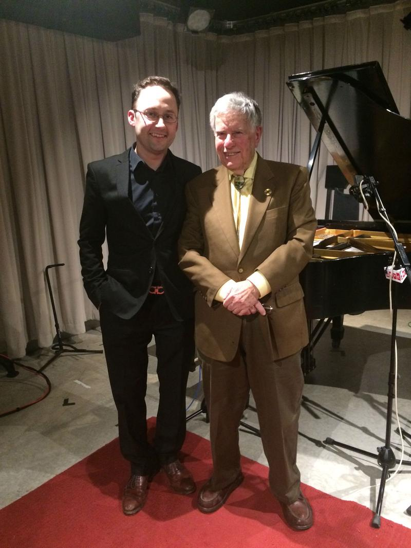 PIanist Alexandre Moutouzkine and host Bob Sherman