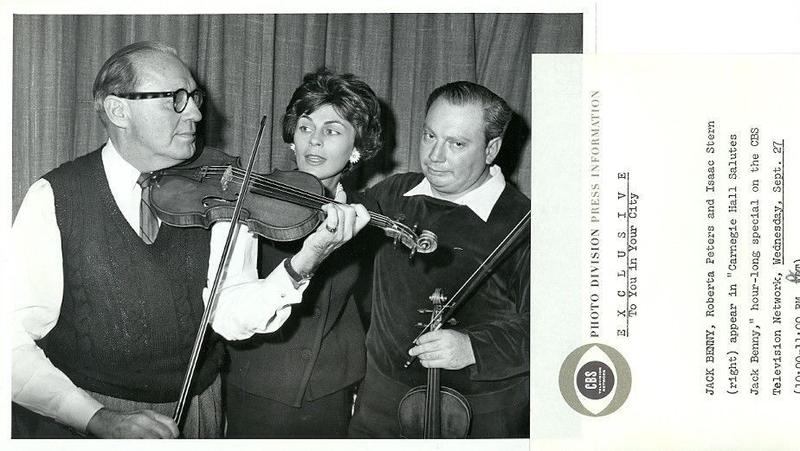 Jack Benny, Roberta Peters and Isaac Stern